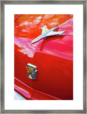 Framed Print featuring the photograph Vintage Ford Hood Ornament Havana Cuba by Charles Harden