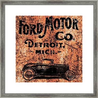 Vintage Ford Motor Company Framed Print by Edward Fielding