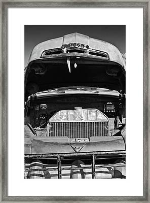 Vintage Ford Pickup Truck -0024bw Framed Print