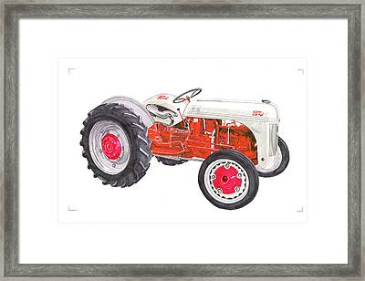 Vintage Ford Tractor 1941 Framed Print by Jack Pumphrey