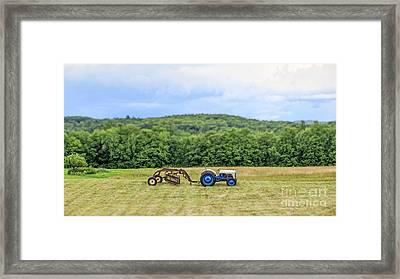 Vintage Ford Tractor Tilt Shift Framed Print by Edward Fielding