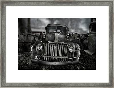 Vintage Ford Truck Framed Print by Yo Pedro