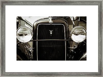 Vintage Ford V8 Framed Print
