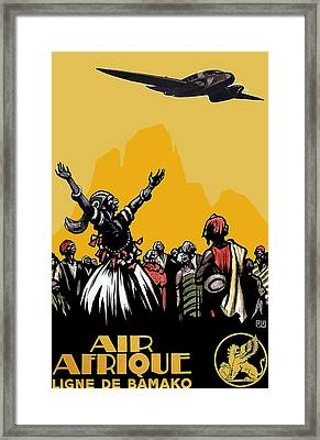 Vintage French Africa Travel 1925 Framed Print