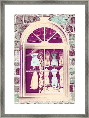 Vintage French Corset Shop Framed Print by Mindy Sommers
