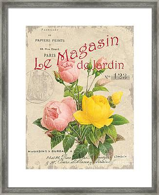 Vintage French Flower Shop 3 Framed Print