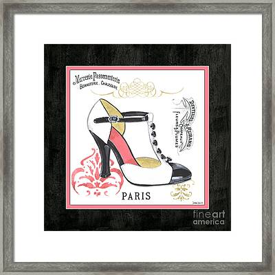 Vintage French Shoes 1 Framed Print by Debbie DeWitt
