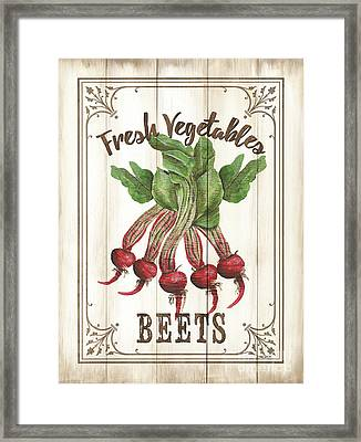 Framed Print featuring the painting Vintage Fresh Vegetables 1 by Debbie DeWitt