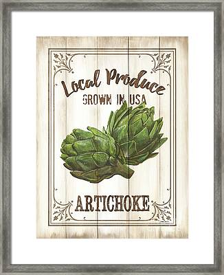 Vintage Fresh Vegetables 2 Framed Print by Debbie DeWitt