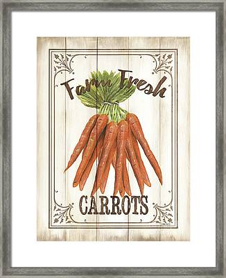 Vintage Fresh Vegetables 3 Framed Print by Debbie DeWitt