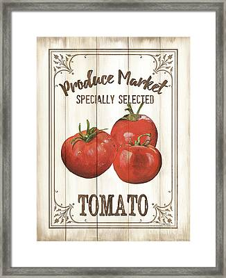 Framed Print featuring the painting Vintage Fresh Vegetables 4 by Debbie DeWitt