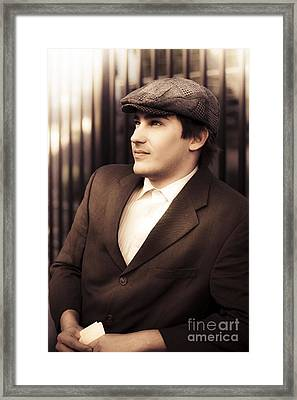 Vintage Gambling Man Framed Print by Jorgo Photography - Wall Art Gallery