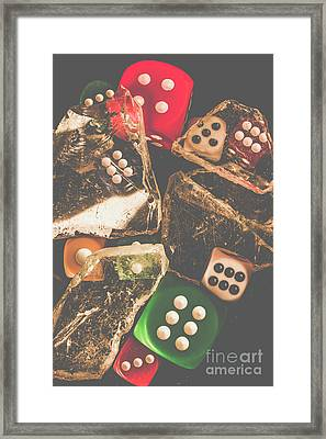 Vintage Gambling Scene Framed Print by Jorgo Photography - Wall Art Gallery