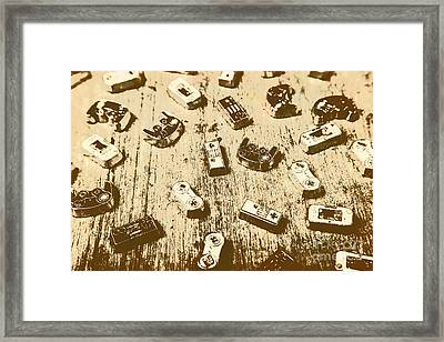 Vintage Gamers Framed Print