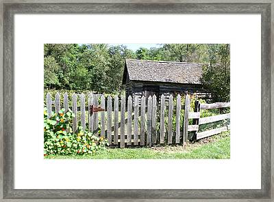 Vintage Garden Gate Framed Print by Inspired Arts
