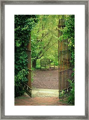 Vintage Garden Framed Print