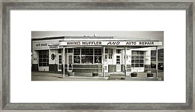 Vintage Gas Station Framed Print by Marilyn Hunt