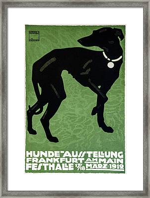 Vintage German Dog Expo Framed Print by Mindy Sommers