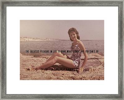 Vintage Glamour Quote Framed Print by JAMART Photography