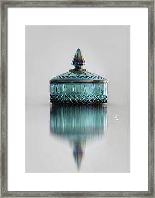 Vintage Glass Candy Jar Framed Print