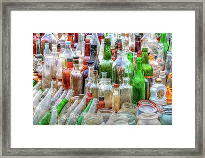 Vintage Glass Framed Print