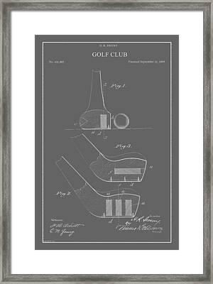 Vintage Golf Club Patent Framed Print