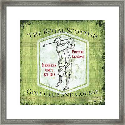 Vintage Golf Green 1 Framed Print by Debbie DeWitt