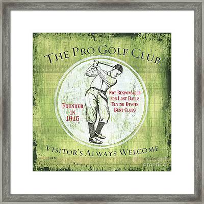 Vintage Golf Green 2 Framed Print by Debbie DeWitt
