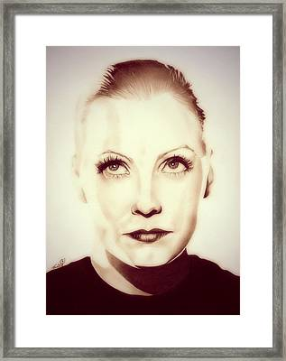 Vintage Greta Garbo Framed Print by Fred Larucci
