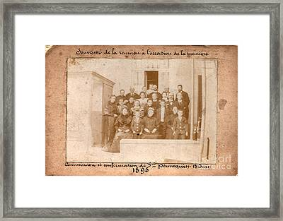 Vintage Group Portrait 1895 Framed Print