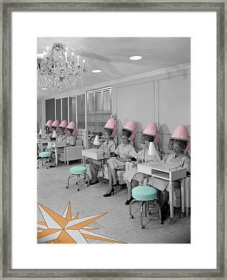 Vintage Hair Salon Framed Print
