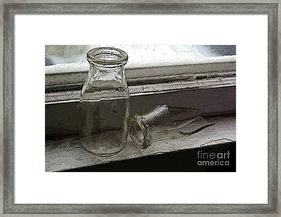Vintage Half Pint Milk Bottles-2 Framed Print by Sandra Church