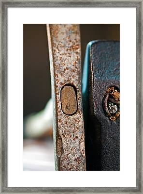 Vintage Hammers Framed Print by Wilma  Birdwell