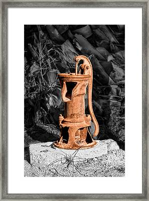 Vintage Hand Water Pump Framed Print