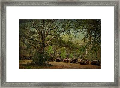 Vintage Harvey Trucks In Northwest Florida Framed Print by Carla Parris