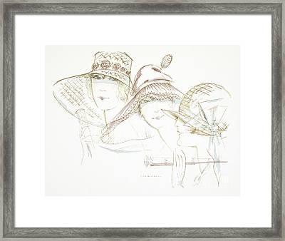 Vintage Hat Designs From The Twenties Framed Print