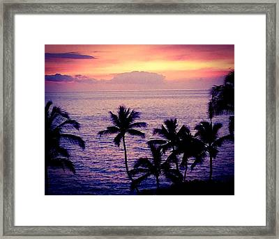 Vintage Hawaii Framed Print
