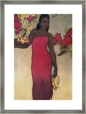 Vintage Hawaiian Woman Framed Print by Hawaiiam Legacy Archives - Printscapes