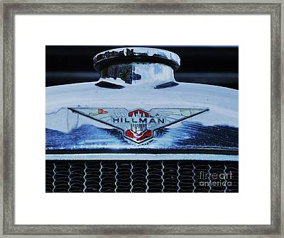Collectible Vintage Hillman Logo Framed Print by Poet's Eye