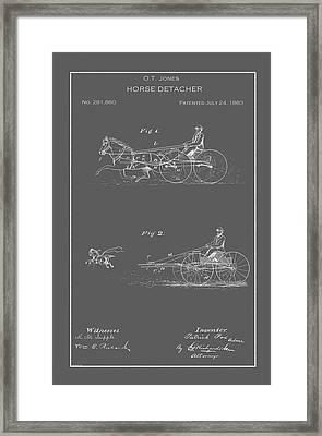 Vintage Horse Detacher Patent Framed Print by Vintage Pix
