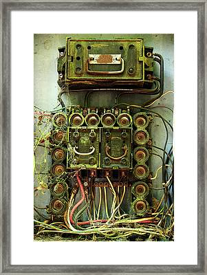 Vintage Household Fuse Box Framed Print