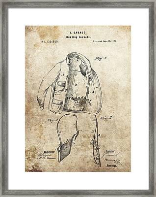 Vintage Hunting Jacket Patent Framed Print
