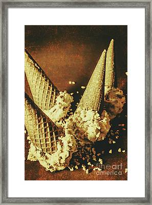 Vintage Ice Cream Cones Still Life Framed Print