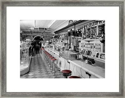Vintage Ice Cream Parlor Framed Print by Andrew Fare