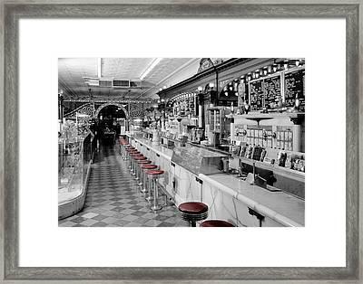 Vintage Ice Cream Parlor Framed Print