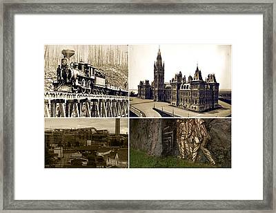 Vintage Images Canadian Mining Archive Of World War Period   Framed Print by Navin Joshi
