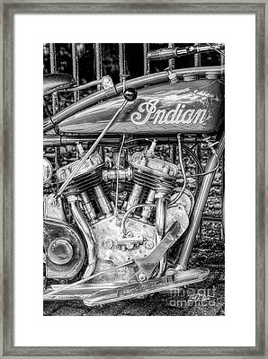 Vintage Indian 101 Scout Framed Print by Tim Gainey