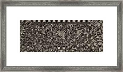 Vintage Indian Textile Design Framed Print