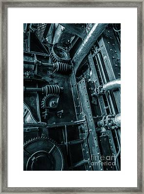 Vintage Industrial Pipes Framed Print by Carlos Caetano