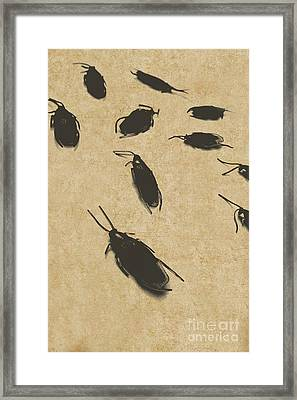 Vintage Infestation Framed Print